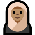 Woman With Headscarf: Medium Skin Tone on Microsoft Windows 10 October 2018 Update