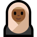 Woman With Headscarf: Medium-Dark Skin Tone on Microsoft Windows 10 October 2018 Update