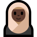 Woman With Headscarf: Dark Skin Tone on Microsoft Windows 10 October 2018 Update