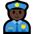 Police Officer: Dark Skin Tone on Microsoft Windows 10 October 2018 Update