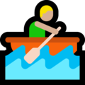 Person Rowing Boat: Medium-Light Skin Tone on Microsoft Windows 10 October 2018 Update