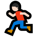 Person Running: Light Skin Tone on Microsoft Windows 10 October 2018 Update