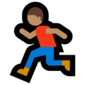 Person Running: Medium Skin Tone on Microsoft Windows 10 October 2018 Update