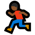 Person Running: Medium-Dark Skin Tone on Microsoft Windows 10 October 2018 Update