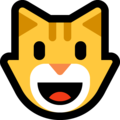 Grinning Cat Face on Microsoft Windows 10 October 2018 Update