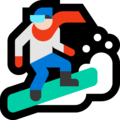 Snowboarder: Light Skin Tone on Microsoft Windows 10 October 2018 Update