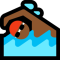 Person Swimming: Medium-Dark Skin Tone on Microsoft Windows 10 October 2018 Update