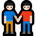 Two Men Holding Hands, Type-1-2 on Microsoft Windows 10 October 2018 Update