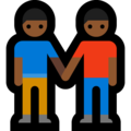 Men Holding Hands: Medium-Dark Skin Tone on Microsoft Windows 10 October 2018 Update