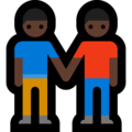 Men Holding Hands: Dark Skin Tone on Microsoft Windows 10 October 2018 Update