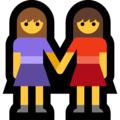 Two Women Holding Hands on Microsoft Windows 10 October 2018 Update