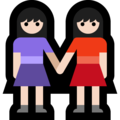 Women Holding Hands: Light Skin Tone on Microsoft Windows 10 October 2018 Update
