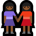 Women Holding Hands: Medium-Dark Skin Tone on Microsoft Windows 10 October 2018 Update