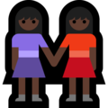 Women Holding Hands: Dark Skin Tone on Microsoft Windows 10 October 2018 Update
