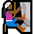 Woman Climbing: Medium-Dark Skin Tone on Microsoft Windows 10 October 2018 Update