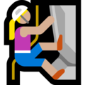 Woman Climbing: Medium-Light Skin Tone on Microsoft Windows 10 October 2018 Update