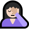 Woman Facepalming: Light Skin Tone on Microsoft Windows 10 October 2018 Update