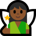 Woman Fairy: Medium-Dark Skin Tone on Microsoft Windows 10 October 2018 Update