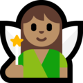 Woman Fairy: Medium Skin Tone on Microsoft Windows 10 October 2018 Update