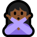 Woman Gesturing No: Medium-Dark Skin Tone on Microsoft Windows 10 October 2018 Update