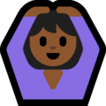 Woman Gesturing OK: Medium-Dark Skin Tone on Microsoft Windows 10 October 2018 Update
