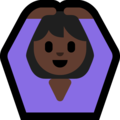 Woman Gesturing OK: Dark Skin Tone on Microsoft Windows 10 October 2018 Update