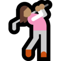 Woman Golfing: Medium Skin Tone on Microsoft Windows 10 October 2018 Update