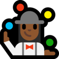 Woman Juggling: Medium-Dark Skin Tone on Microsoft Windows 10 October 2018 Update