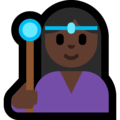 Woman Mage: Dark Skin Tone on Microsoft Windows 10 October 2018 Update