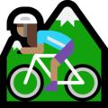 Woman Mountain Biking: Medium Skin Tone on Microsoft Windows 10 October 2018 Update