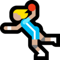 Woman Playing Handball: Medium-Light Skin Tone on Microsoft Windows 10 October 2018 Update