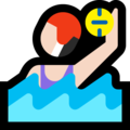 Woman Playing Water Polo: Light Skin Tone on Microsoft Windows 10 October 2018 Update