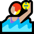 Woman Playing Water Polo: Medium-Light Skin Tone on Microsoft Windows 10 October 2018 Update