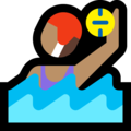Woman Playing Water Polo: Medium Skin Tone on Microsoft Windows 10 October 2018 Update