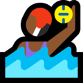 Woman Playing Water Polo: Medium-Dark Skin Tone on Microsoft Windows 10 October 2018 Update