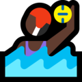 Woman Playing Water Polo: Dark Skin Tone on Microsoft Windows 10 October 2018 Update