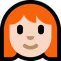 Woman, Red Haired: Light Skin Tone on Microsoft Windows 10 October 2018 Update