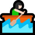 Woman Rowing Boat: Light Skin Tone on Microsoft Windows 10 October 2018 Update