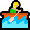 Woman Rowing Boat: Medium-Light Skin Tone on Microsoft Windows 10 October 2018 Update