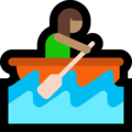 Woman Rowing Boat: Medium Skin Tone on Microsoft Windows 10 October 2018 Update