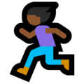 Woman Running: Medium-Dark Skin Tone on Microsoft Windows 10 October 2018 Update