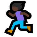 Woman Running: Dark Skin Tone on Microsoft Windows 10 October 2018 Update
