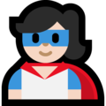 Woman Superhero: Light Skin Tone on Microsoft Windows 10 October 2018 Update