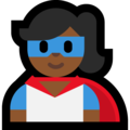 Woman Superhero: Medium-Dark Skin Tone on Microsoft Windows 10 October 2018 Update