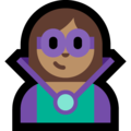 Woman Supervillain: Medium Skin Tone on Microsoft Windows 10 October 2018 Update