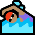 Woman Swimming: Medium Skin Tone on Microsoft Windows 10 October 2018 Update