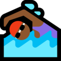 Woman Swimming: Medium-Dark Skin Tone on Microsoft Windows 10 October 2018 Update