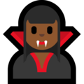 Woman Vampire: Medium-Dark Skin Tone on Microsoft Windows 10 October 2018 Update