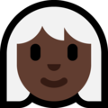 Woman: Dark Skin Tone, White Hair on Microsoft Windows 10 October 2018 Update