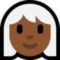 Woman: Medium-Dark Skin Tone, White Hair on Microsoft Windows 10 October 2018 Update
